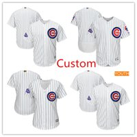 Custom men Chicago Cubs 2017 Gold Program Flex Base Jersey, p...