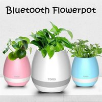 Творческий TOKQI Bluetoth Smart Touch Music Flowerpots Plant Piano Music Воспроизведение K3 Wireless Flowerpot без растения CCA6283 30pcs
