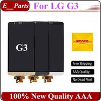 100% Original AAA grade pour LG G3 D850 D851 D855 VS985 LS990 écran LCD Touch Digitizer écran d'assemblage Livraison gratuite