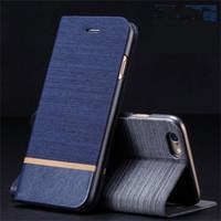 Business Jeans Funda de cuero con ranuras para tarjetas de crédito Smart Cell Phone Wallet Case for huawei p8