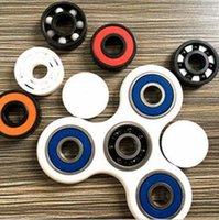 Novo HandSpinner Fingertips dedos espirais Gyro Torqbar latão rolamentos de cerâmica Acrílico Hand Spinner Tri Spinner CCA5488 50pcs