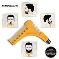GROOMARANG Beard Symmetry Styling Shaping Template Peigne à raser les cheveux du visage