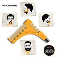 GROOMARANG Борода Симметрия Стайлинг Shaping Шаблон Гребень Обрезка Волосы на лице