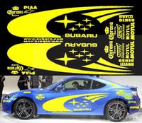 Wholt set Subaru Car PVC Yellow Sticker For Subaru BRZ Foret...