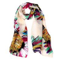Wholesale- New brand 2015 Scarf Women High Quality Floral Chi...