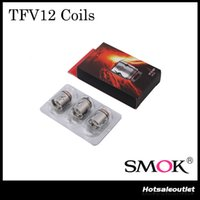 Authentique SMOK TFV12 Bobines V12-T12 V12-T6 V12-X4 V12-Q4 Bobines Head TFV12-RBA-T TFV12-RBA pour TFV12 Tank Atomizer 100% Original