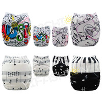 4 pieces lot Music Diapers Position Printing Rusable Cloth B...