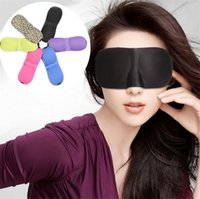 New 3D sleep mascaras Travel Rest 3D Sponge Eye MASK Black Sleeping Eye Mask Capa para cuidados de saúde para proteger a luz Travel eye mask 1955