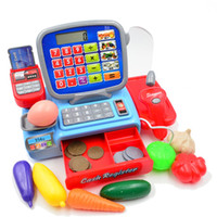 BOHS Pretend Play Toy Cashier Register with Real Calculator ...