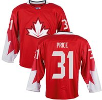 2016 World Cup Hockey Jerseys WCH Canada Jersey Red #31 Care...
