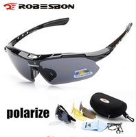 High Quality ROBESBON Polarized Cycling Glasses Eyewears 3 L...