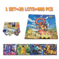 660pcs / set Poke Go Jeu de cartes à collectionner English Anime Cartoon Poke Playing Cards for Children Jeu de société Party Board Game Toys