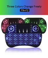 Meilleures ventes Claviers de rétro-éclairage multi-couleurs de qualité rii i8 fly air mouse 2.4GHz télécommande pour télé tv android mxq rk3229 mxq pro 4k s905