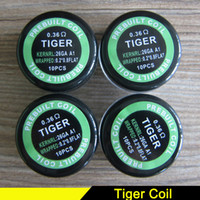 Pre- wrap Coil Alien Wire Hive Coils Flat Twisted Wire Fused ...