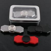 3 couleurs Nouveau Fidget Spinner HandSpinner Hand Spinner Finger EDC Toy pour angoisse de décompression Acier inoxydable avec boîte en métal CCA5780 50pcs