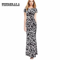 TINDERALA 2017 Summer Print Dress Women O- neck Long bodycon ...