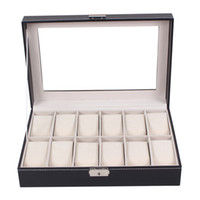 Professional 12 Grid Slots Jewelry Watches Display Storage B...