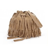 Wholesale- Women Handbag Popular Faux Suede Fringe Tassel Sh...