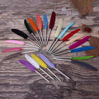 Feather Ballpoint Pen Creative Stationery Office Gift Wholes...