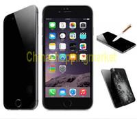 Pour Iphone 7 couverture complète de confidentialité en verre trempé Protection de l'écran de confidentialité pour Samsung Note 5 Anti-Spy Cover Shield pour Galaxy S6 Black Package