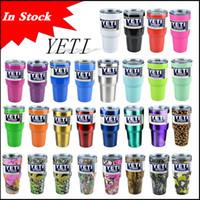 В наличии 28 цветов Rambler Тумблерные 30 унций YETI Чашки Автомобили Пивная кружка большой емкости Кружка 900ml Yeti полный стакан чашки Рождество через DHL