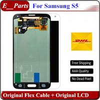 100% original pour Samsung Galaxy S5 LCD qualité AAA NO Marque i9600 G900F G900H G900M G9001 G900R écran LCD écran tactile Digitizer assemblage