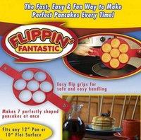 Flippin Fantástico fabricante de panquecas antiaderente fabricante do anel ovo Fácil Maneira de fazer café da manhã cozimento moldes 300pcs OOA1383