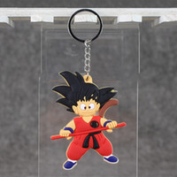 8cm Anime Dragon Ball Son Goku Keychain Pendant PVC Action F...