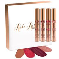 2016 Nouveau maquillage 4pcs / set KYLIE Lustre mat liquide de lèvre rouge à lèvres KOKO Kollection par les cosmétiques de kylie établis imperméable KYLIE JENNER DHL