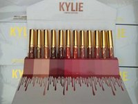 2017 de la nueva de la llegada Kylie Jenner cosméticos del lipgloss del lápiz labial del lápiz labial Kylie Jenner kit 1 sistema 12 colores
