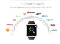 Smart Watch A1 Synchronisation d'horloge Notifier Support Sim Card Bluetooth Connectivité Téléphone Android Smartwatch Montre