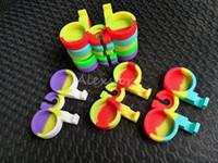 Nonstick Wax containers titulaire silicone boîte base dabber jars dab jar pour 3ml 5ml rond ou forme de boule silicon conteneur dabber outil vaporisateur