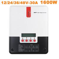 Горячее надувательство солнечный регулятор регулятора обязанности регулятора обязанности 30A MPPT солнечный 12V 24V 48V солнечный регулятор обязанности 1700W заряжателя батареи