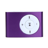 Wholesale- Wholes Mini USB Metal Clip MP3 Player Digital Spo...