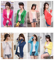 12 Candy colors Women lace knitted Cardigan sweater Hot high...