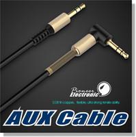 Câble audio auxiliaire de 3,5 mm Câble à plat de 90 degrés Câble AUX avec ressort de ressort en acier pour écouteurs iPods iPhones Accueil Stéréo de voiture