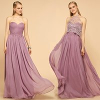 Simple Two Pieces Bridesmaid Dresses Long 2017 Hot Sale Swee...