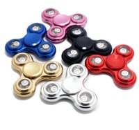 LED Triangle Fidget Spinner Alloy EDC Spinner à main incandescente Doigts Spirales Fingers Gyro Torqbar Jouets de décompression OOA1510
