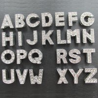 260pcs lot Zinc Alloy full Rhinestone Slide letters A- Z pet ...