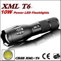 E17 CREE XML T6 3800Lumens 10W alta potencia LED antorchas Zoomable Tactical LED linternas luz de la antorcha uso 18650 batería o 3x AAA batería