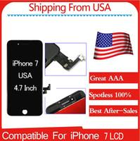 Livraison gratuite Écran LCD de première qualité A + (100% Spotless) Nouveau pour iPhone 7 4.7 Noir / Blanc Meilleur service après-vente