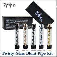 На складе Извилистые Glass Блант Pipe Kit 7 труб Second Edition Травяные Испаритель ручка сухой травы Vape Pen комплект