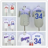 Throwback Texas Rangers #34 Nolan Ryan 1993 Home White Gray ...