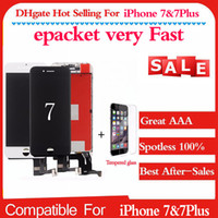 1PC pour AAA iPhone 7 4.7 5.5Plus écran LCD tactile écran numériseur composants et cadres Remplacement complet de l'Assemblée Noir Blanc