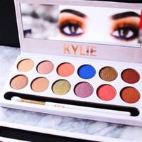 Kylie The Royal Peach Paleta 12 colores Sombra de ojos Jenner Cosméticos Kyshadow sombras de ojos Kit vs Paleta de vacaciones Kyshadow