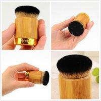 Тарте Airbuki Kabuki 50шт Bamboo Powder Foundation Brush Высококачественные мягкие универсальные кисти для макияжа без розничной коробки в наличии