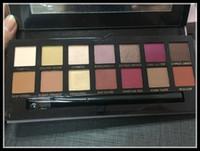 Ombre à paupières modernes Palette 14colors palette d'ombre portée avec pinceau palette de sombre rose Free DHL