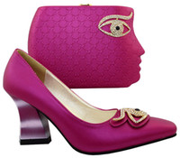 Fuchsia New Fashion Italian Shoes with Matching bags For Par...