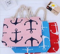 50pcs lot 2017Newest Classical Women Ladies boat anchor Canv...