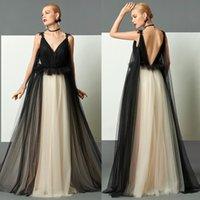 Custom Made Long Prom Dress Backless V Neck A Line Floor Len...